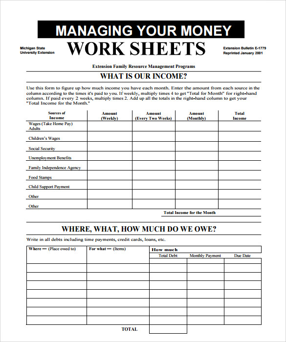 Sample Multiplying Money Worksheets   Documents In Pdf