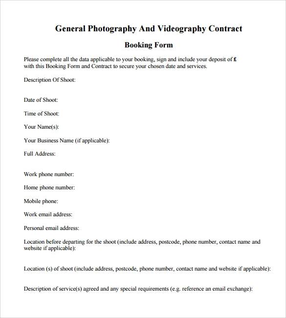 Videography Contract Template - 9+ Download Free Documents in PDF