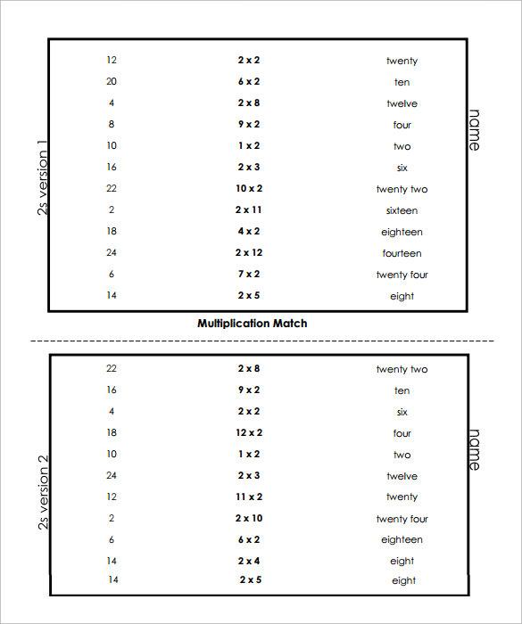 vertical multiplication facts worksheets