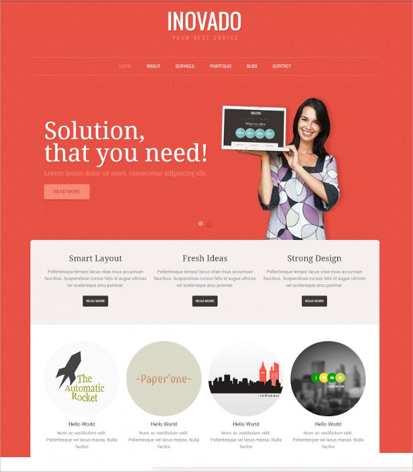 22  Marketing Agency WordPress Themes   Templates Sample Templates WA5nv1Lp