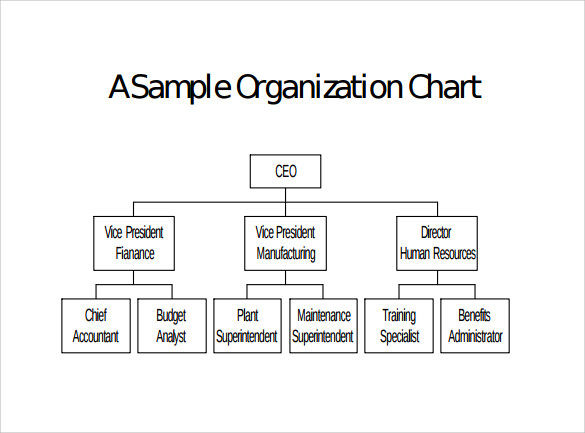 9 blank organizational charts sample templates for Free org chart template