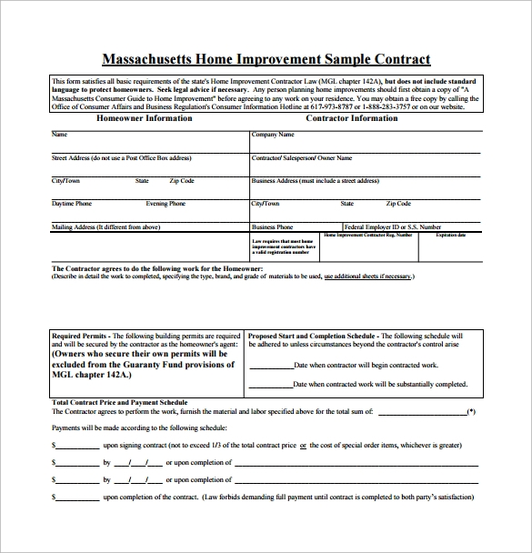 Home Remodeling Contract 10 Download Free Documents in PDF – Remodeling Contract Template Sample
