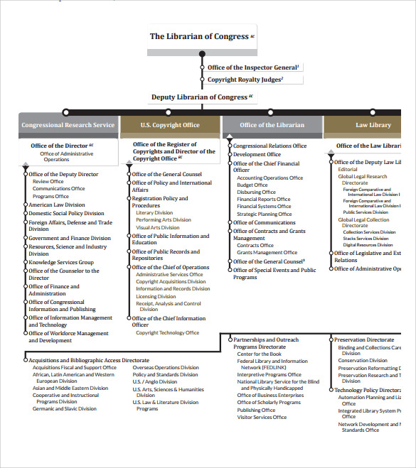 Sample Blank Organizational Chart   Documents In Pdf