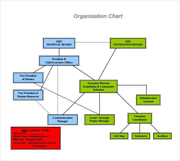 Sample Hospital Organizational Chart 10 Documents In Pdf