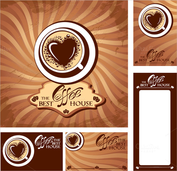 menu and business cards for cafe templates