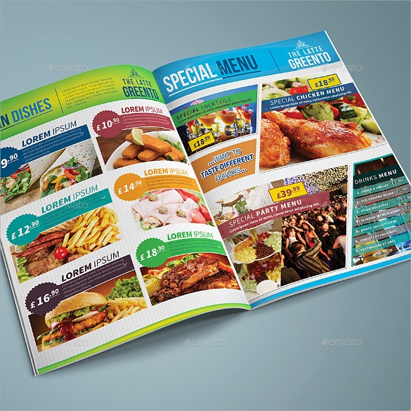 restaurant and cafe menu template