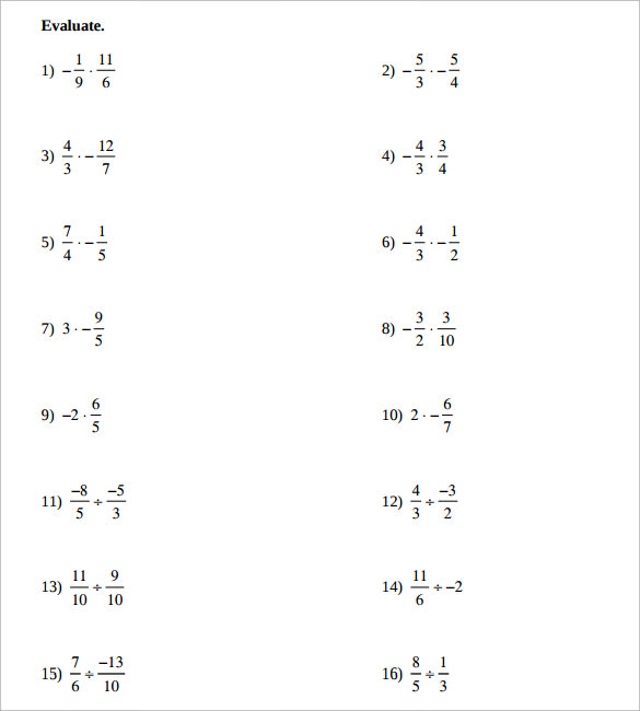 math worksheet : sample multiplying fractions worksheet 14  free documents in pdf  : Multiplying Fractions Printable Worksheets