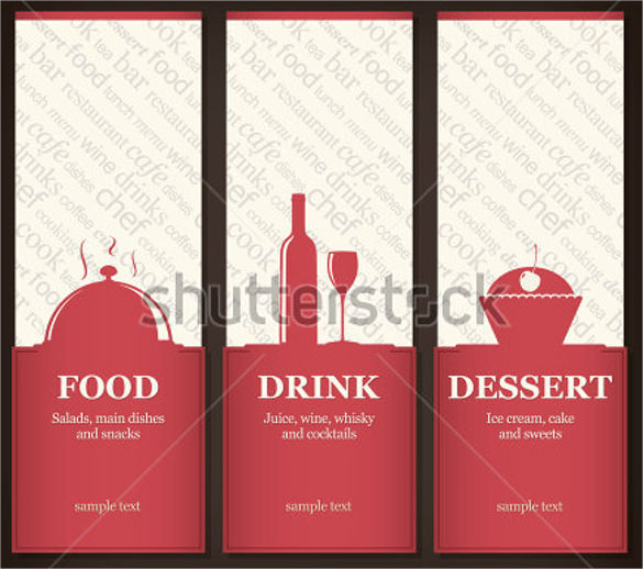 menu template for restaurant and cafe