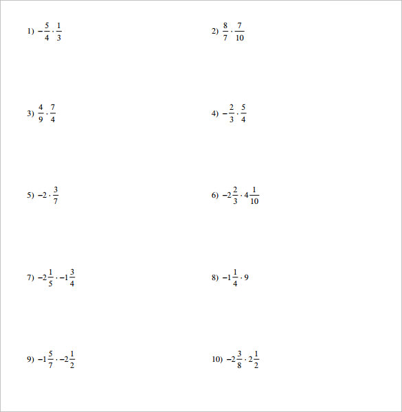 math worksheet : sample multiplying fractions worksheet 14  free documents in pdf  : Multiplying Fractions Worksheets Pdf