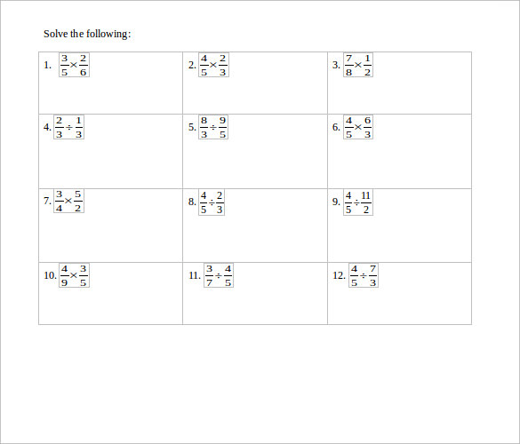math worksheet : sample multiplying fractions worksheet 14  free documents in pdf  : Multiplying Fractions Worksheet