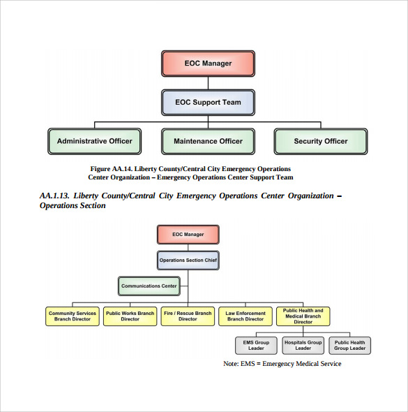 sample hospital organizational chart
