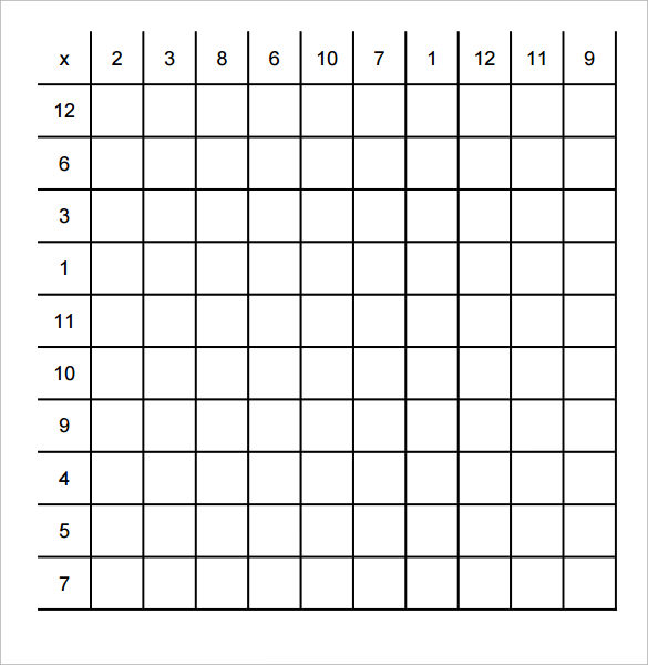 bon Sample Multiplication Frenzy Worksheet