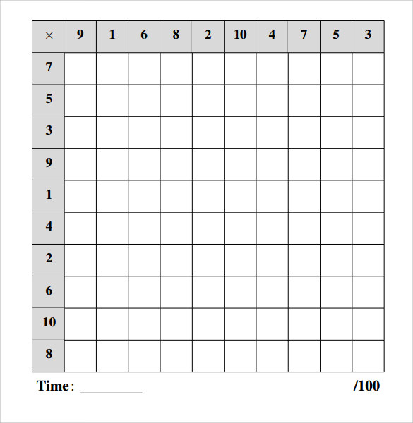 Sample Multiplication Frenzy Worksheet 9 Free