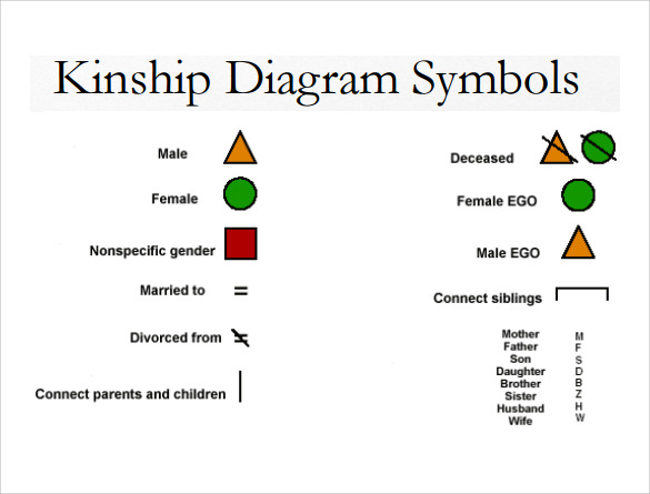 Kinship Diagram Template Symbols