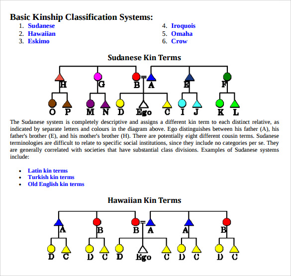 sample kinship diagram template