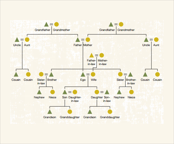 Sample kinship diagram template 9 free documents in pdf Diagram drawing software free download