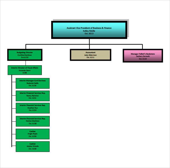 business organizational chart example