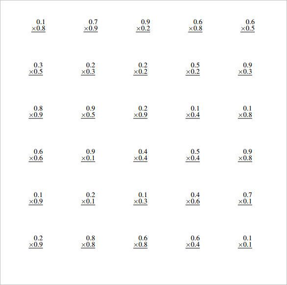 math worksheet : free worksheets on multiplying decimals  worksheets for education : Decimals Multiplication Worksheets