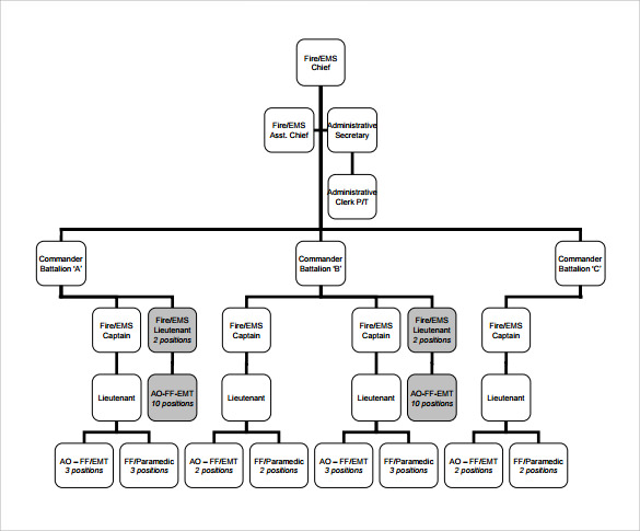 sample fire department organizational chart