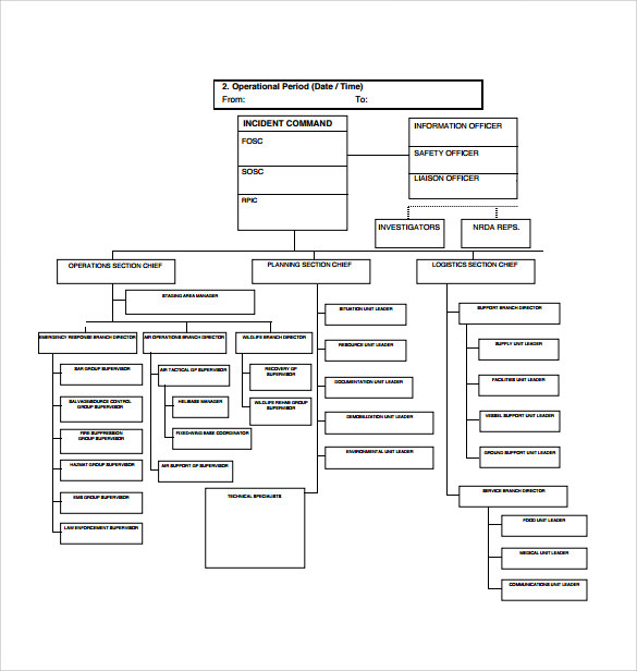 Sample ICS Organizational Chart 8 Documents in PDF – Ics Organizational Chart