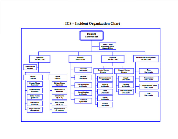 Sample ics organizational chart 8 documents in pdf for Html organization chart template