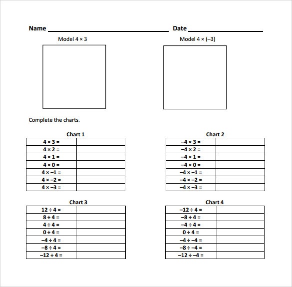 Sample Multiplying Integers Horizontal Worksheet 9 Free – Multiplying Integers Horizontal Worksheet