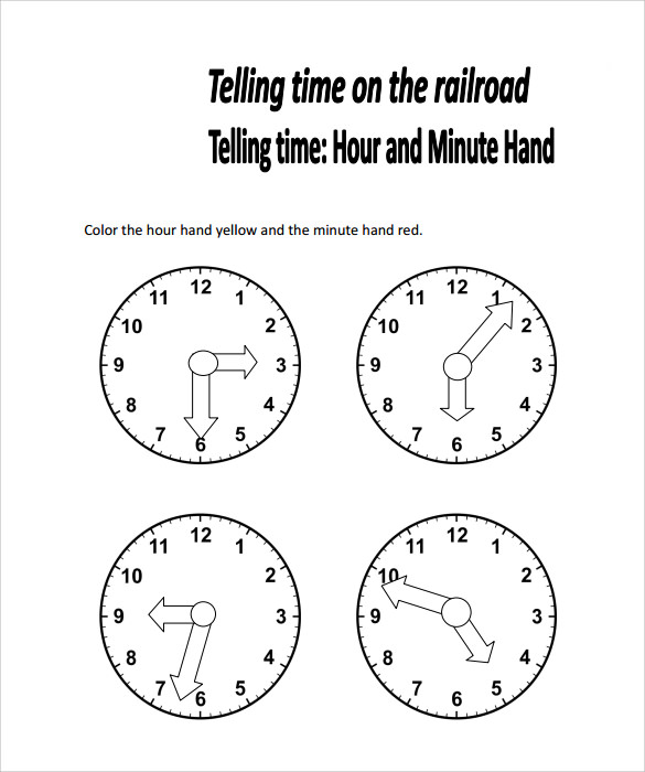 9+ Time Worksheet Samples | Sample Templates