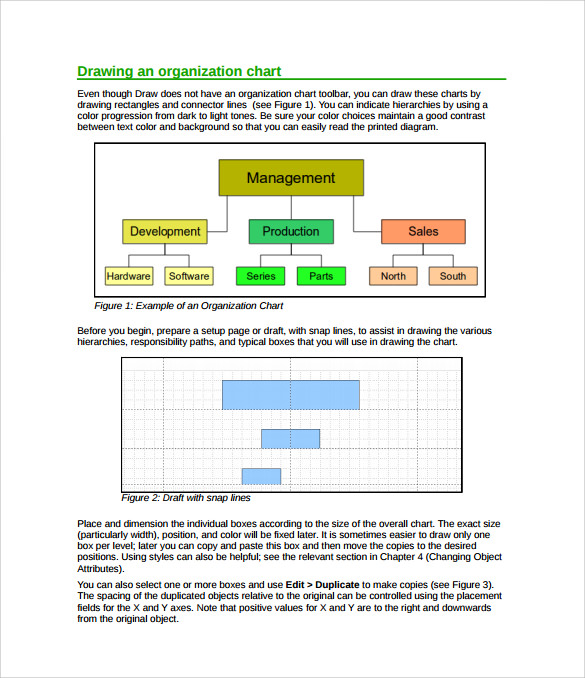 Sample Horizontal Organization Chart   Documents In Pdf