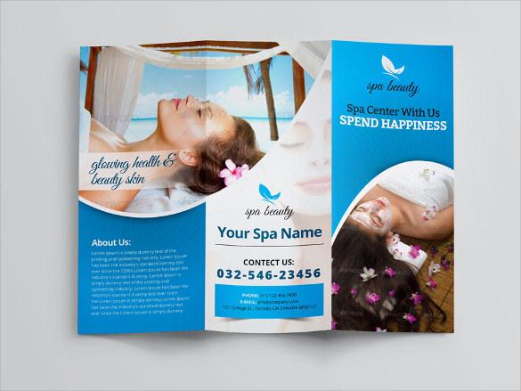 beauty spa trifold brochure