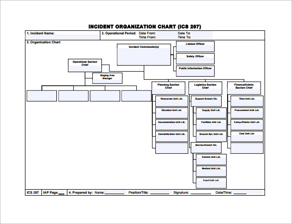 Basic Organizational Chart Template Pictures to Pin – Ics Organizational Chart