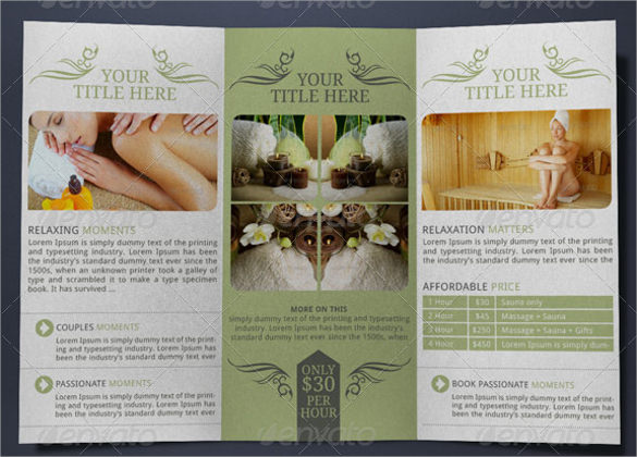 27  spa brochures templates