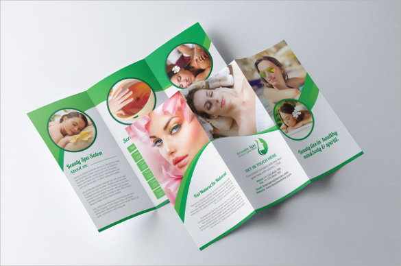 spa beauty salon brochure
