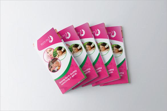 cute spa brochure templates