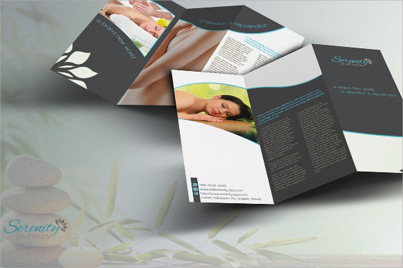 serenity spa trifold brochure
