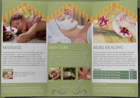 Spa Brochures  Psd Vector Eps