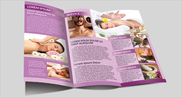 natural spa trifold brochure
