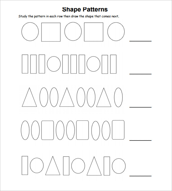 Sample Patterning Worksheet 13 Free Documents In Pdf Word