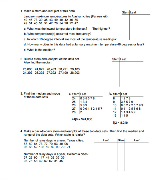 Worksheets Statistics Worksheets sample statistics worksheet 14 documents in pdf word general worksheet
