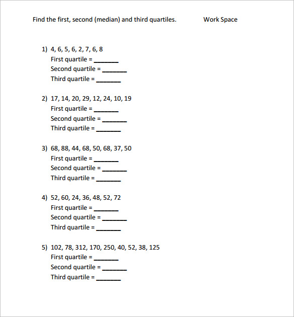 downloadable statistics worksheet