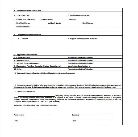 sample conformance certificate