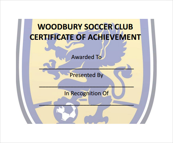 Soccer Certificate Templates - 17+ PSD, AI, InDesign, Word ...