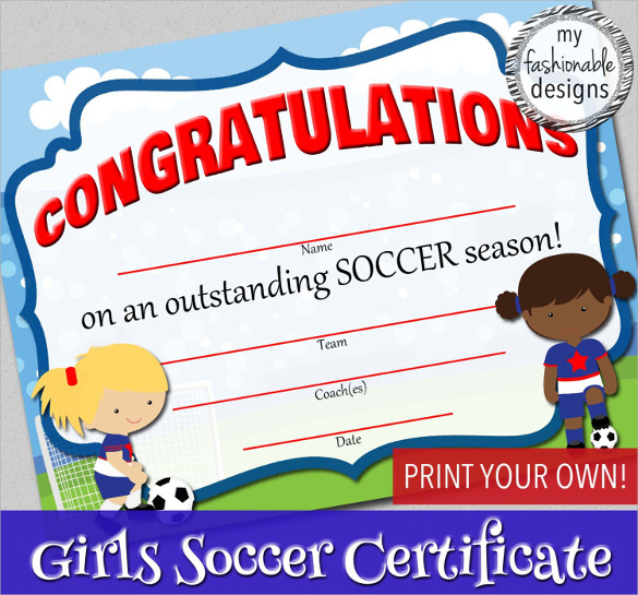 15 Soccer Certificate Templates To Download Sample Templates