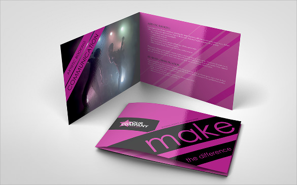 Event Brochures PSD Vector EPS - Event brochure template