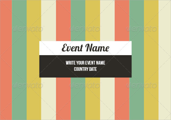 event brochure template