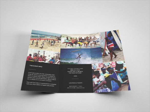 event tri fold brochure template