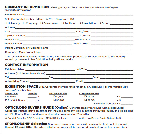 Sponsorship agreement template free download