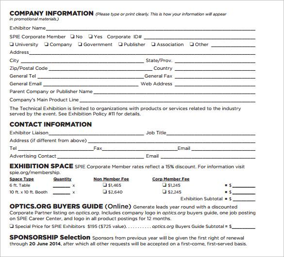 exhibitor sponsorship contract
