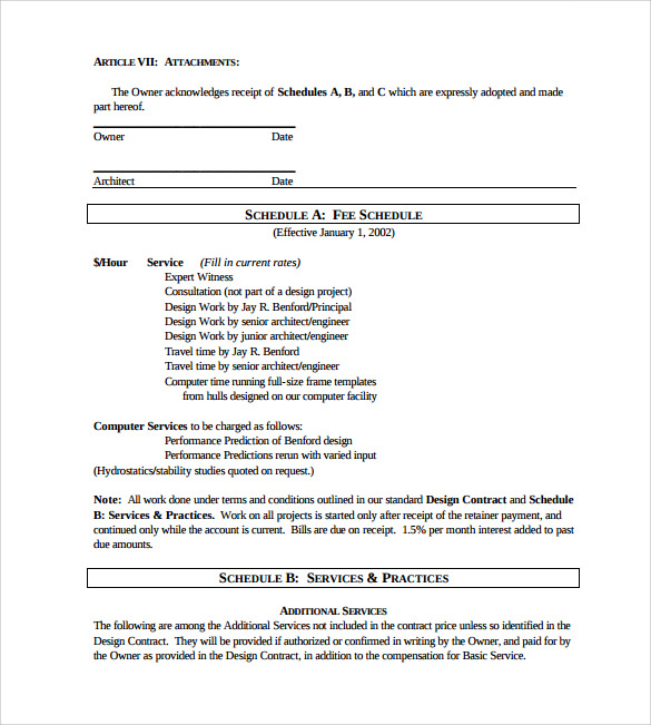 Interior Design Contract Template   Download Free Documents In Pdf