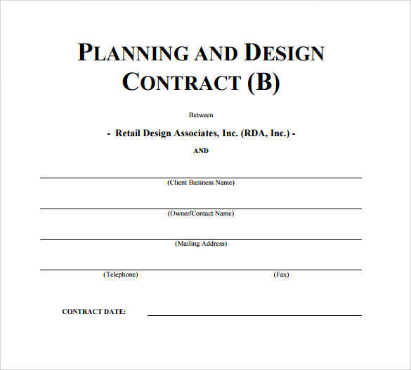 Interior Design Contract Template   7+ Download Free Documents In PDF   ^