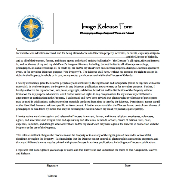 image release form to download for free